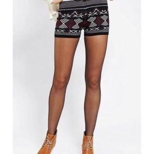 Ecote black Folkloric Sweater Shorts